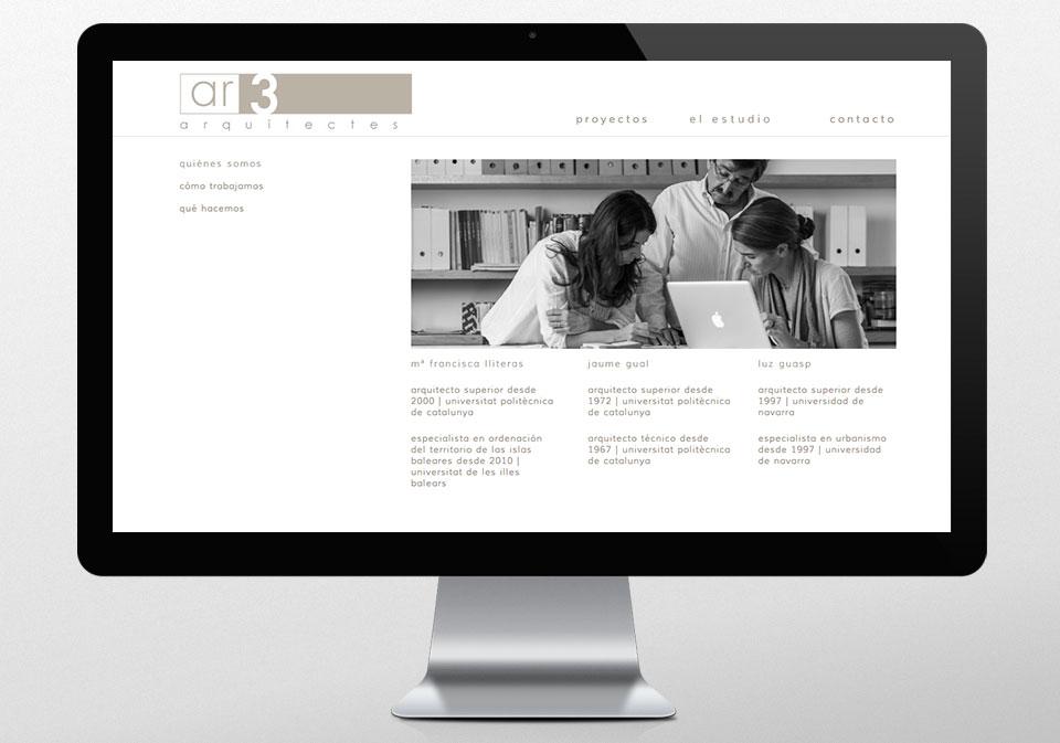 DISEÑO WEB AR3 ARQUITECTES