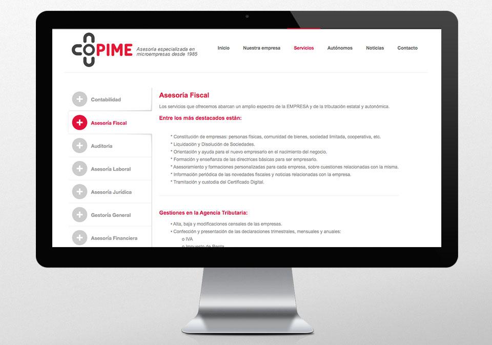 IMAGEN CORPORATIVA DISEÑO WEB COPIME